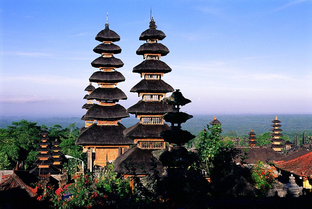 Pagoda towers, Pura Besakih Temple, Bali, Indonesia, Asia