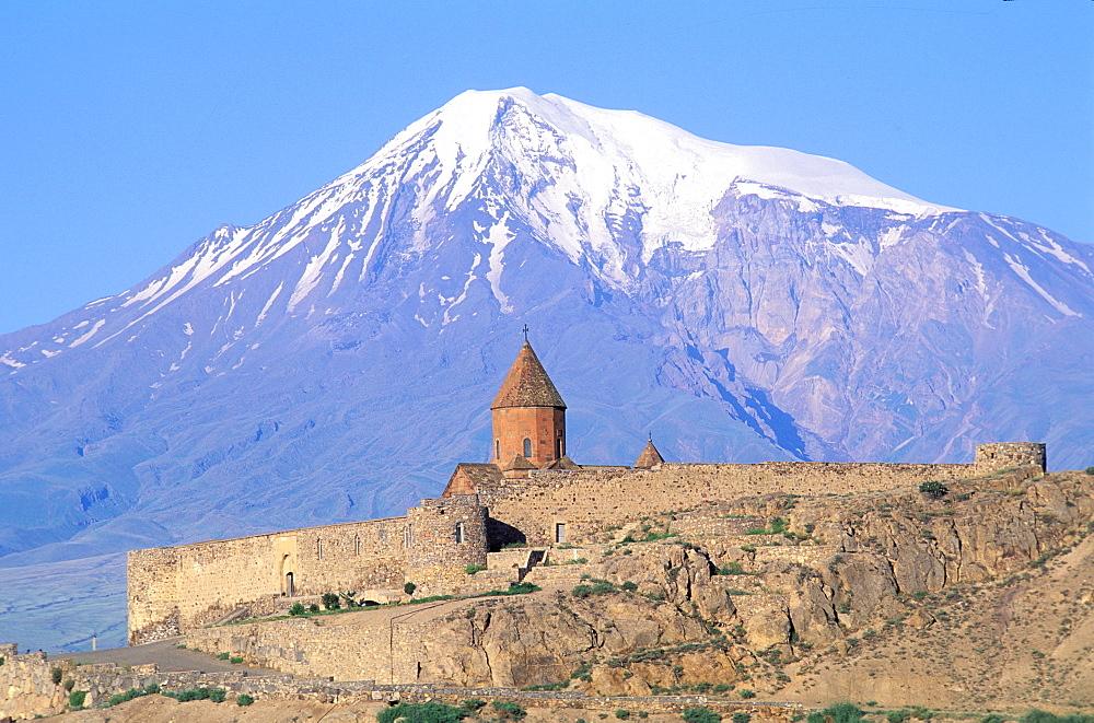 Mount Ararat, Khorvirap monastery, Armenia, Asia