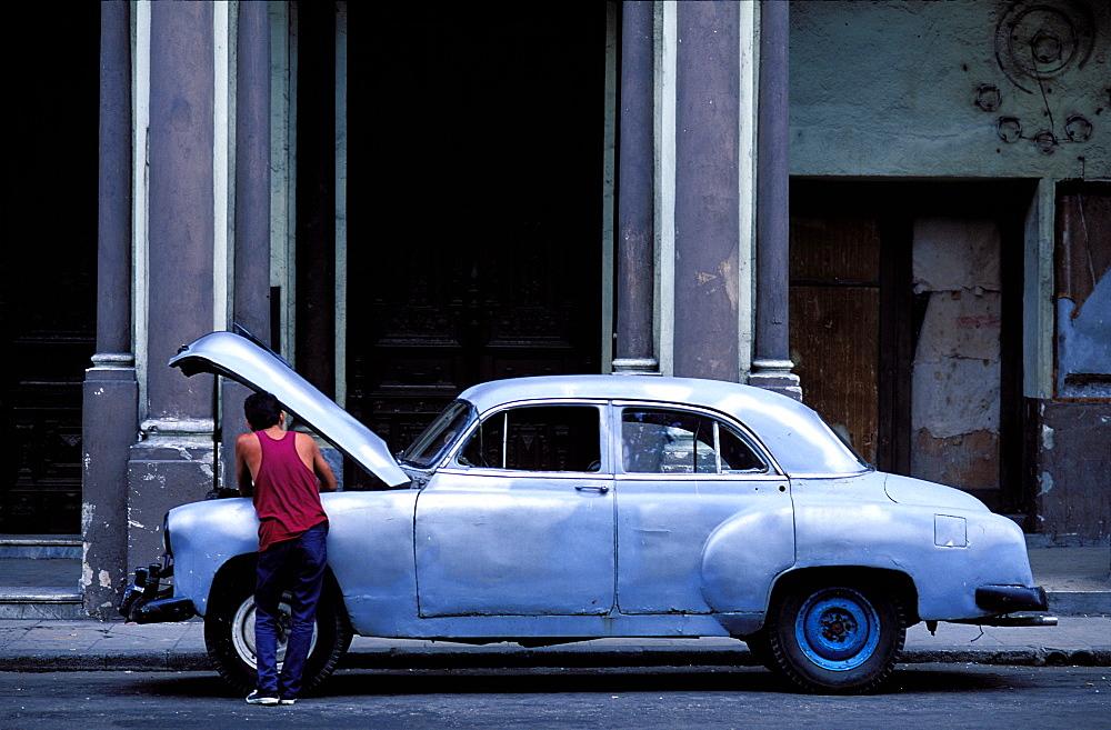 American car, Havana, Cuba, Central America