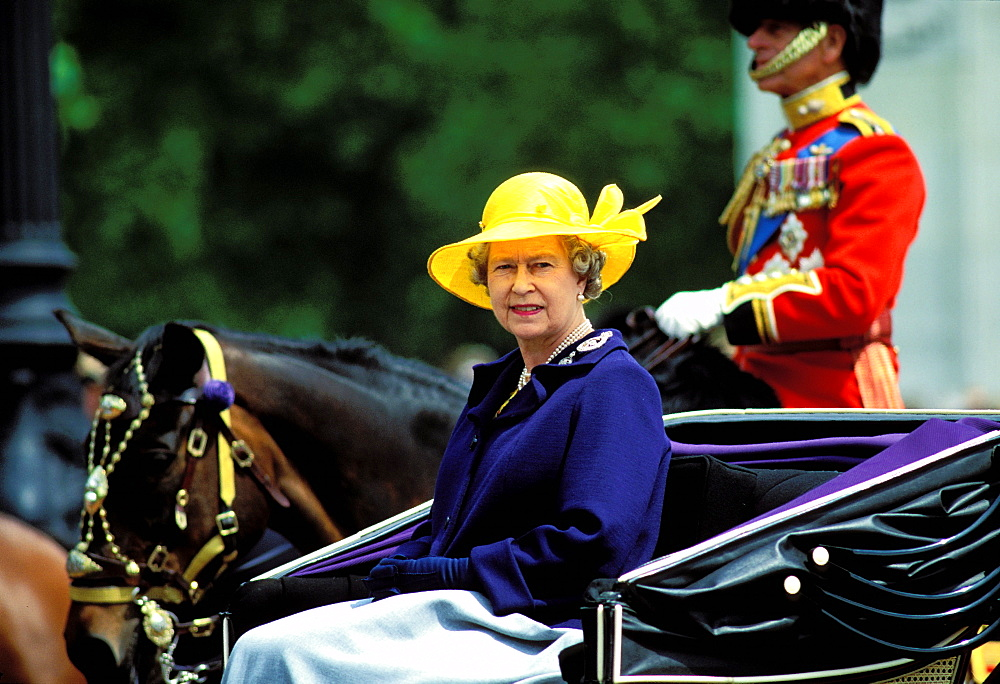 Queen Elizabeth, Horse race, Royal Ascot, Ascot, England, UK, Europe