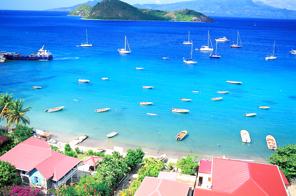 Aerial view, Les Saintes, Guadeloupe, Caribbean, Central America - 712-1736