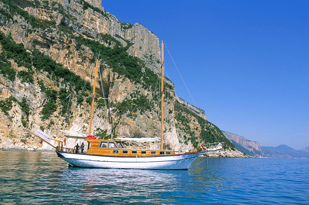 Cala Gonone, Golfe di Orosei (Orosei gulf), island of Sardinia, Italy, Mediterranean, Europe