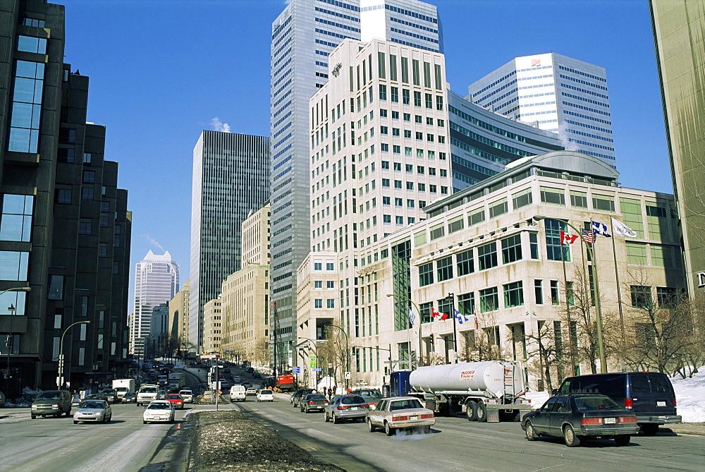 Street scene, city of Montreal, Quebec, Canada, North America