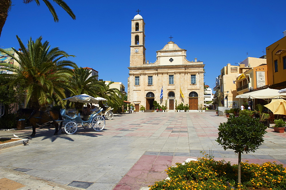 Orthodox Cathedral, Chania, Crete, Greek Islands, Greece, Europe
