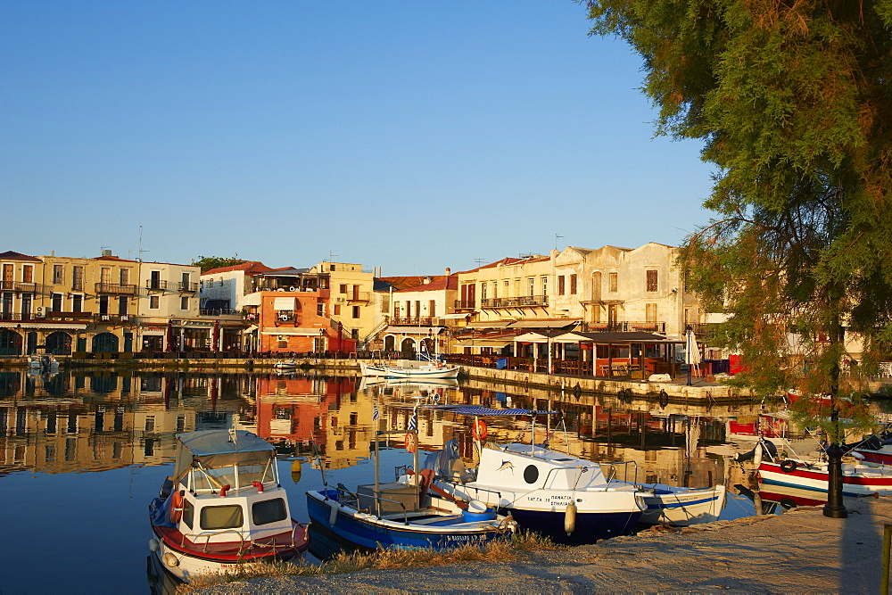 Venetian port of Rethymnon, Crete, Greek Islands, Greece, Europe