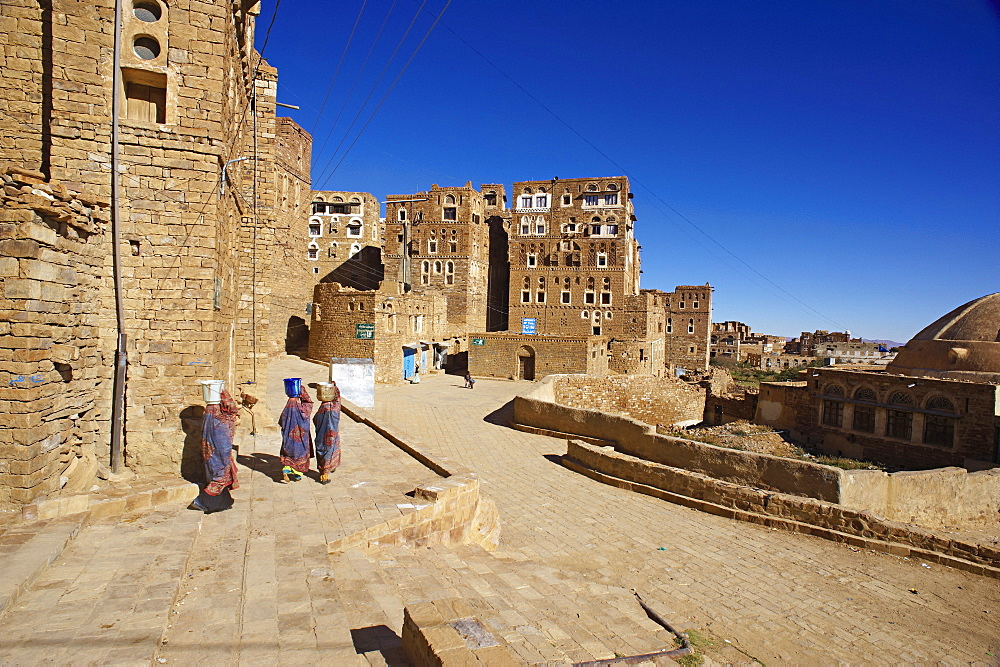 Ancient town of Hababa, Central Mountains, Yemen, Middle East