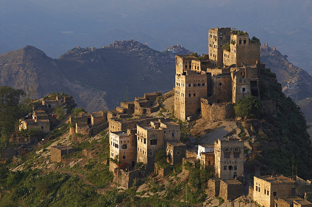 Al Jaray village, Al Mahwit region, Central Mountains, Yemen, Middle East