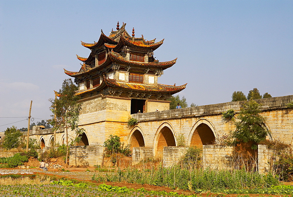 Double Dragon Bridge around Jianshui, Yunnan, China, Asia