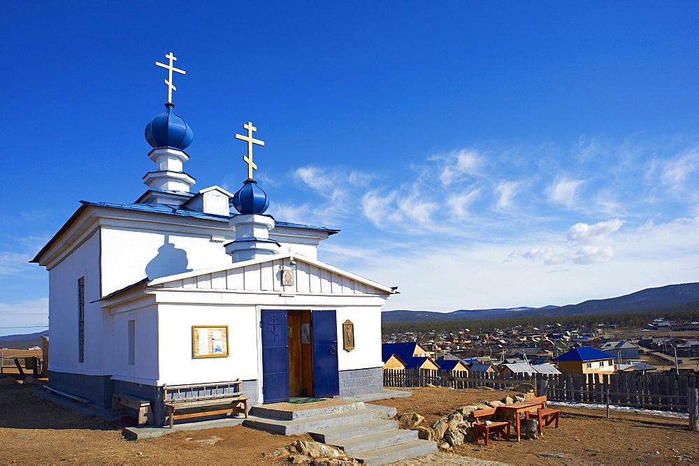 Khoujir, Maloe More (Little Sea), frozen lake during winter, Olkhon island, Lake Baikal, UNESCO World Heritage Site. Irkutsk Oblast, Siberia, Russia, Eurasia  - 712-2628