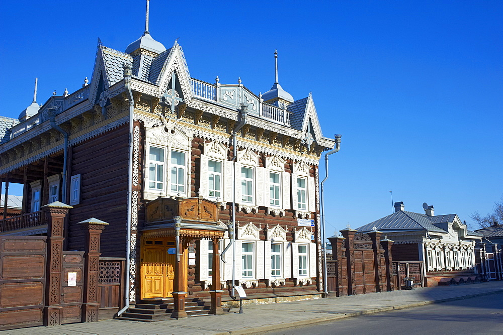Wooden architecture, The House of Europe, Irkutsk, Siberia, Russia, Eurasia  - 712-2631