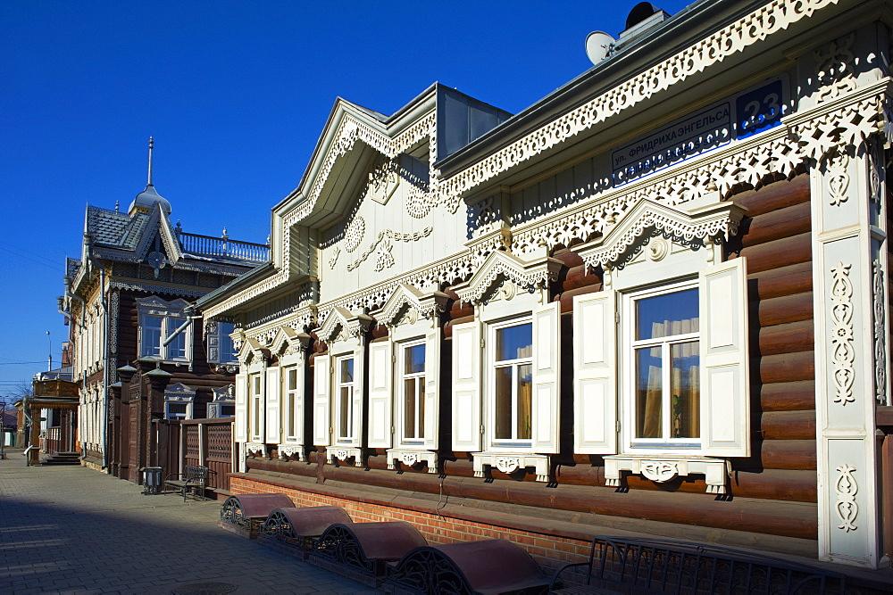Wooden architecture, The House of Europe, Irkutsk, Siberia, Russia, Eurasia  - 712-2632