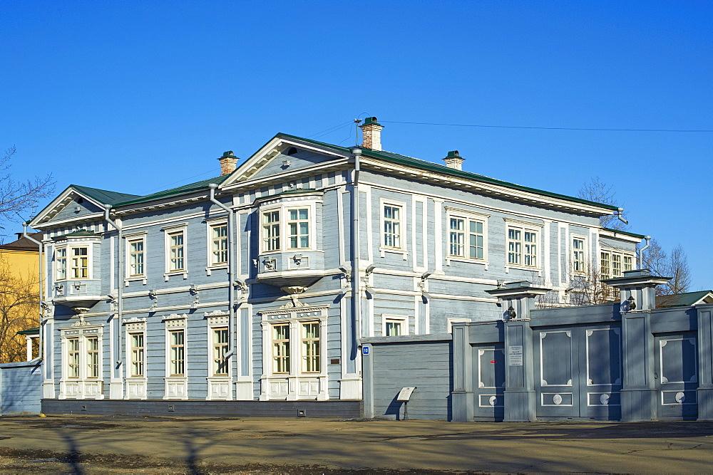 Wooden architecture, the house of the Decembrist Volkonskii, Irkustsk, Siberia, Russia, Eurasia  - 712-2633