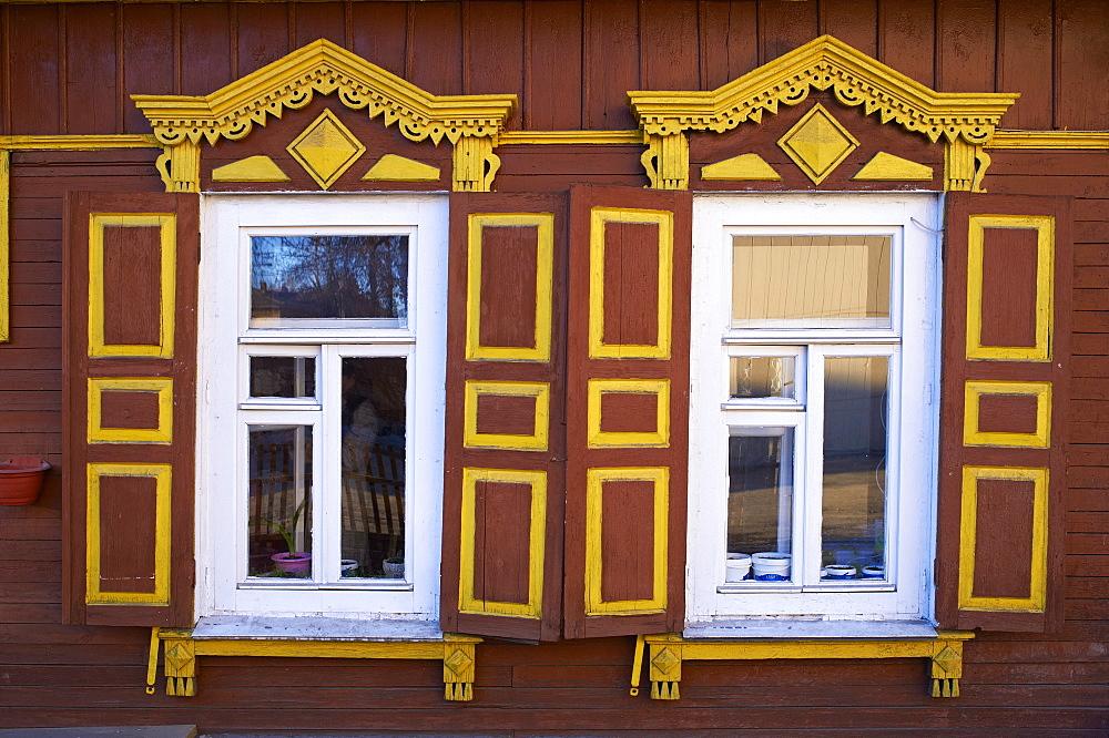 Wooden architecture, Irkutsk, Siberia, Russia, Eurasia  - 712-2634