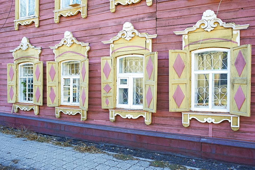 Wooden architecture, Irkutsk, Siberia, Russia, Eurasia  - 712-2635