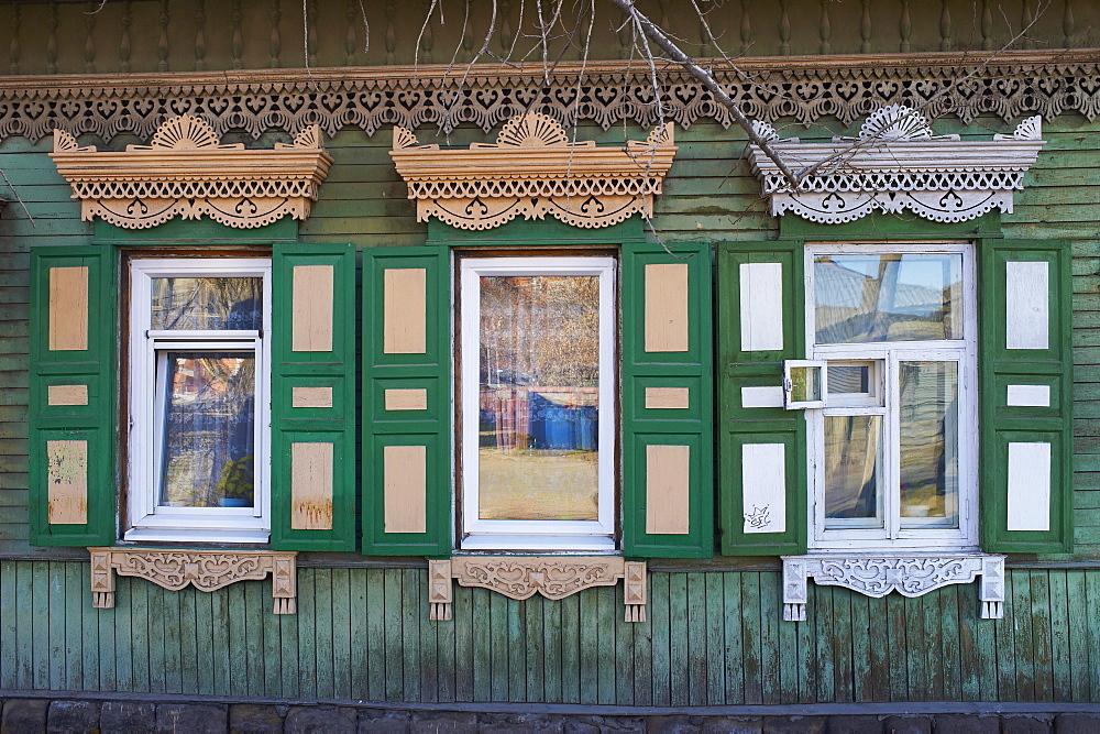 Wooden architecture, Irkutsk, Siberia, Russia, Eurasia  - 712-2636