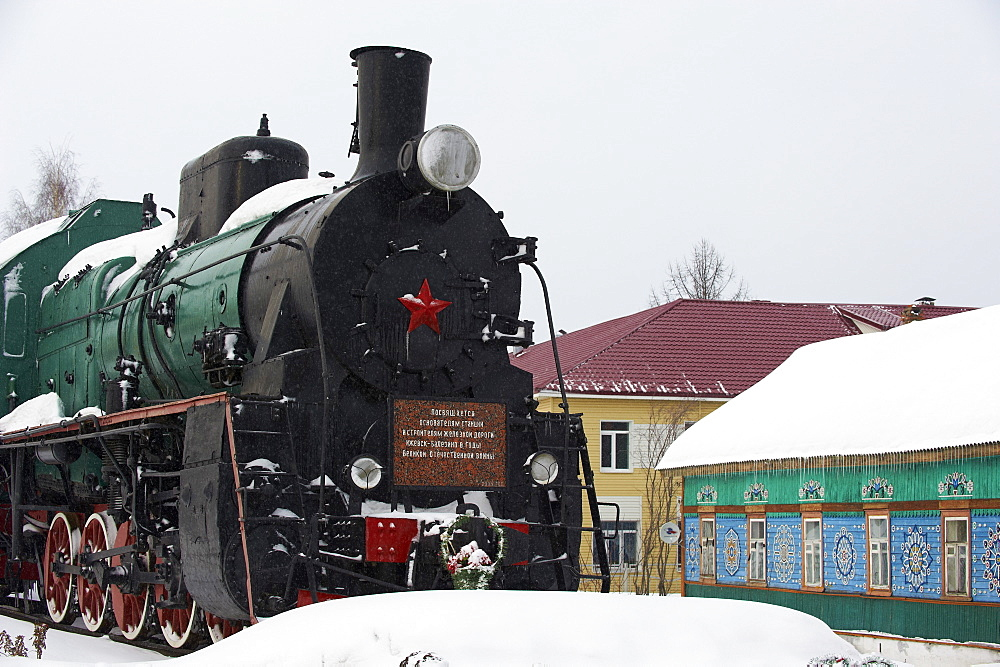 Balezino, 23 minutes stop at the railway station on the Trans-Siberian line, Udmurtia, Russia, Europe  - 712-2639