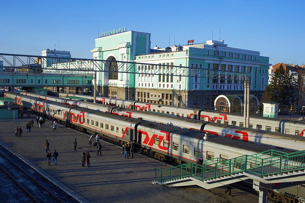 Trans-Siberian railway station, Novosibirsk, Novosibirsk Oblast, Russia, Eurasia - 712-2643