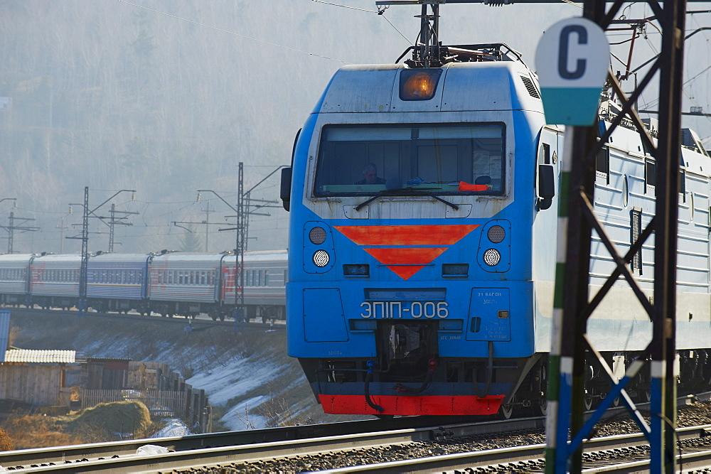 Trans-Siberian train in Siberia, Russia, Eurasia - 712-2644