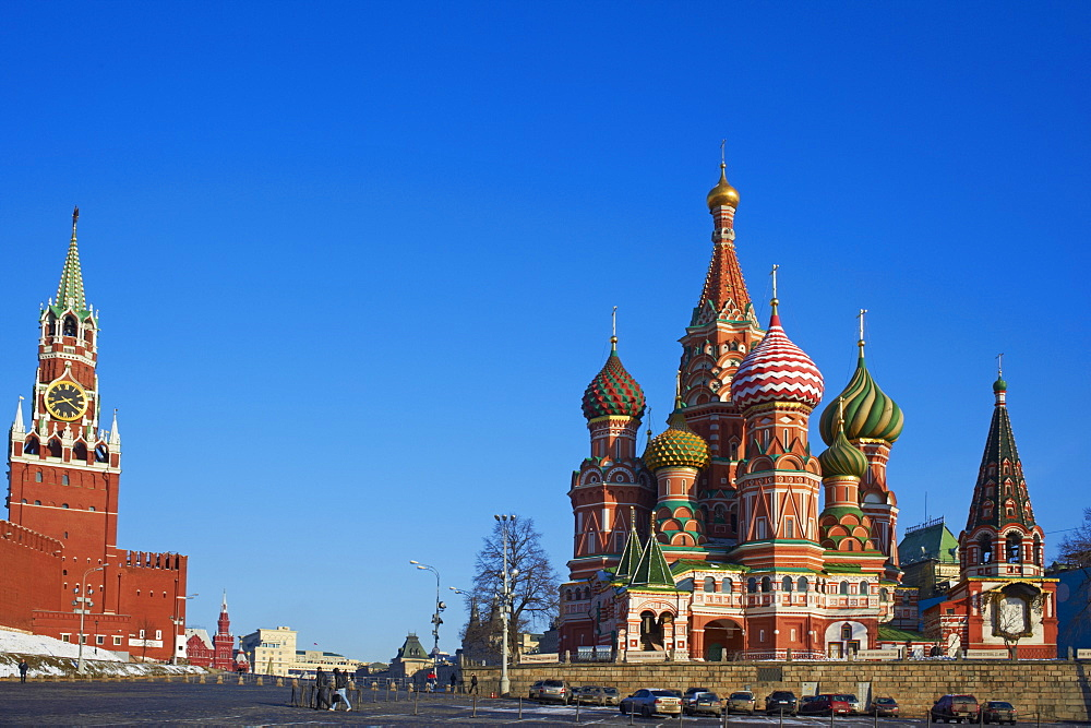 St. Basil's Cathedral, Red Square, UNESCO World Heritage Site, Moscow, Russia, Europe  - 712-2646