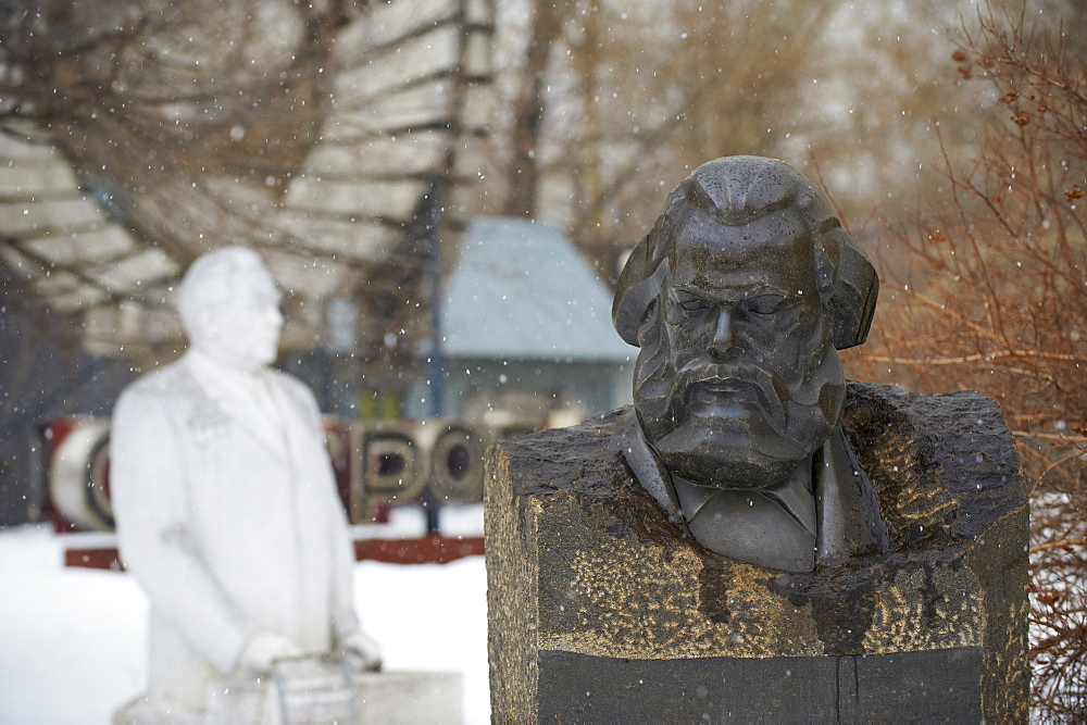 Statue of Karl Marx, Sculptures Park, Moscow, Russia, Europe  - 712-2648