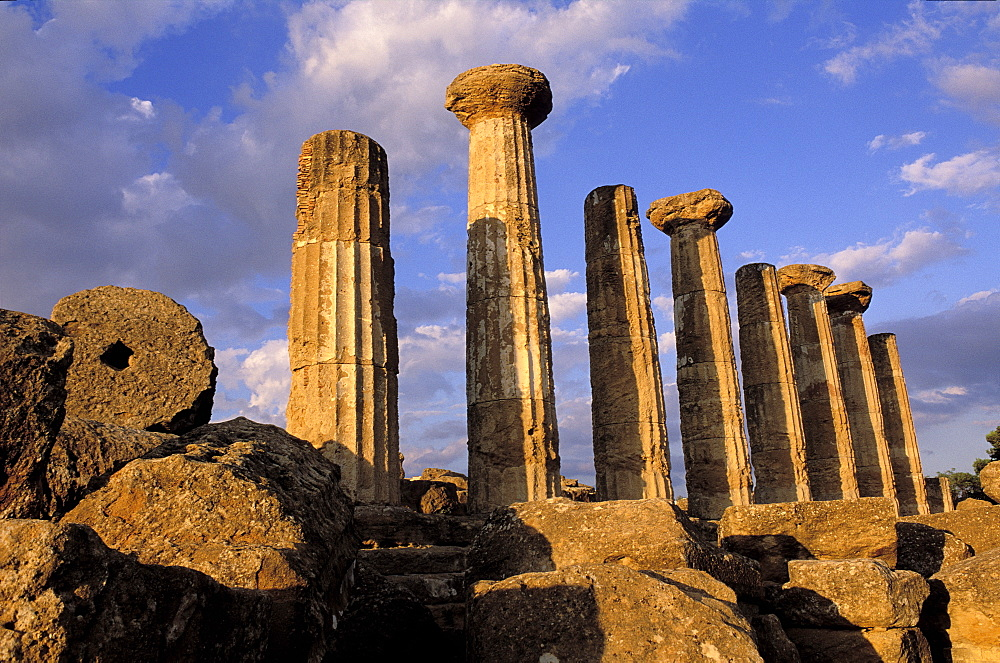 Hercules (Herakles) Temple, Valley of Temples, Agrigento, UNESCO World Heritage Site, Sicily, Italy, Europe  - 712-2686
