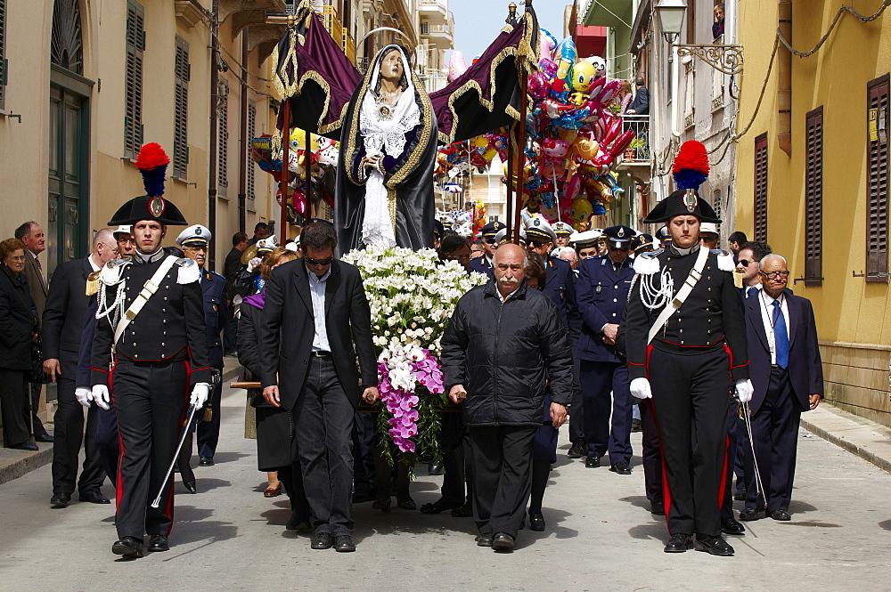 Procession of the Mysteries (Processione dei Misteri viventi), Holy Thursday, Marsala, Sicily, Italy, Europe - 712-2691