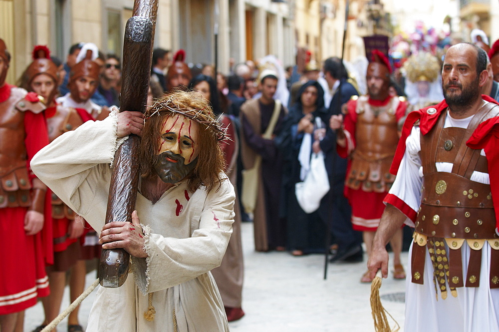 Procession of the Mysteries (Processione dei Misteri viventi), Holy Thursday, Marsala, Sicily, Italy, Europe - 712-2692