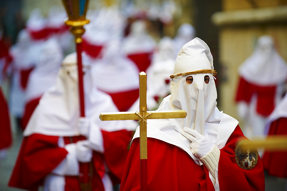 Procession on Good Friday, Enna, Sicily, Italy, Europe - 712-2693