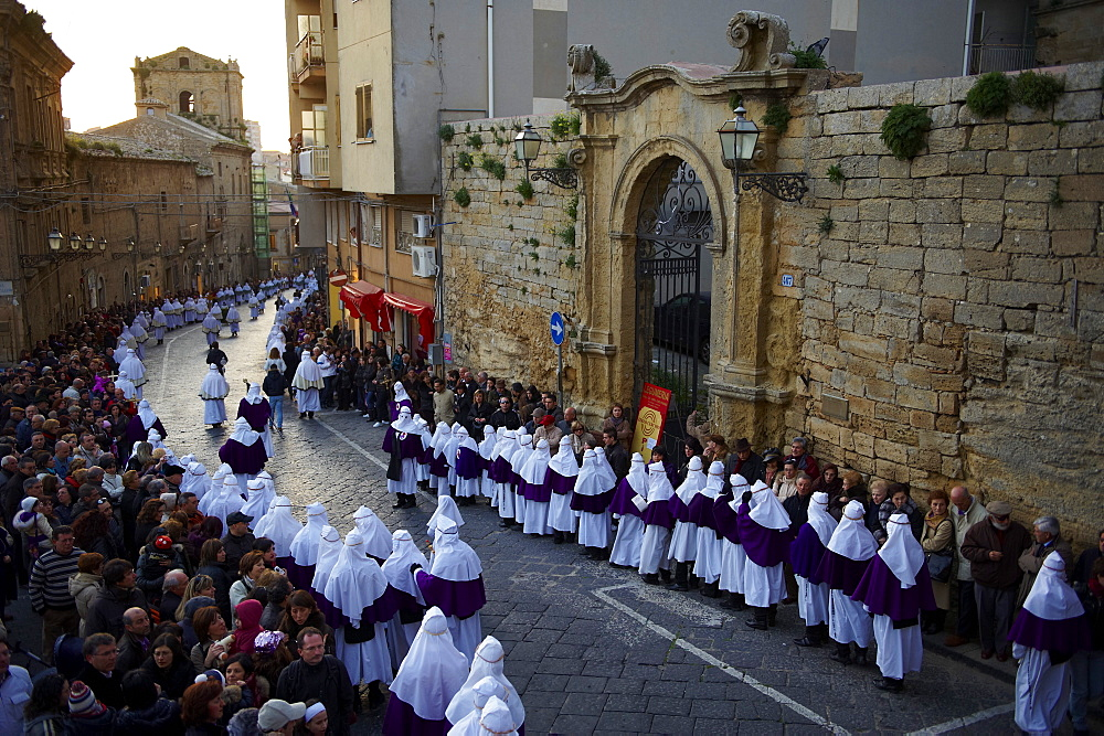 Procession on Good Friday, Enna, Sicily, Italy, Europe - 712-2697