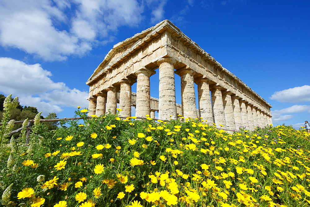 Greek temple, Segesta, Trapani District, Sicily, Italy, Europe  - 712-2713