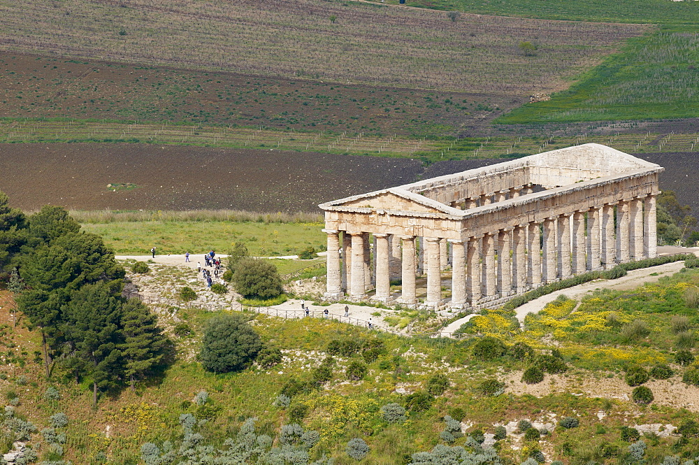 Greek temple, Segesta, Trapani District, Sicily, Italy, Europe  - 712-2715
