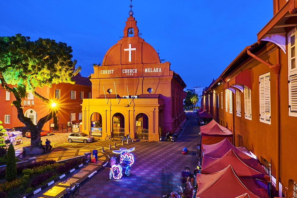 Christ Church, 1753, Malacca, UNESCO World Heritage Site, Malacca State, Malaysia, Southeast Asia, Asia