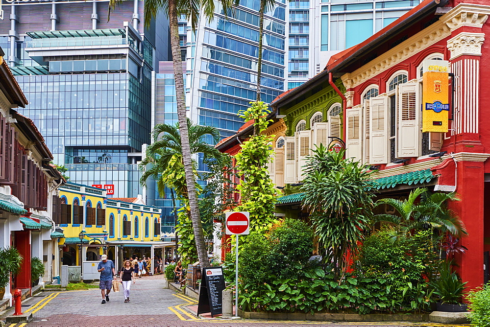 Emerald Hill Road district, Singapore, Southeast Asia, Asia