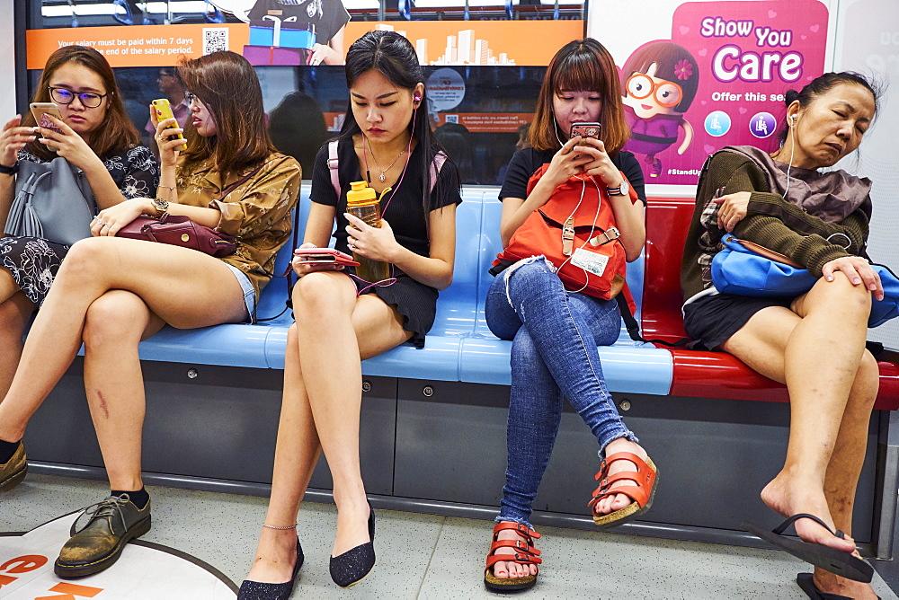 Metro passengers, Singapore, Southeast Asia, Asia