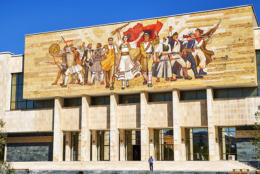 History Museum, Skanderbeg Square, Tirana, Albania, Europe