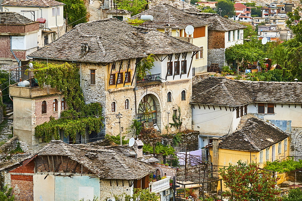 Old City, Gjirokastra (Gjirokaster), UNESCO World Heritage Site, Gjirokastra Province, Albania, Europe