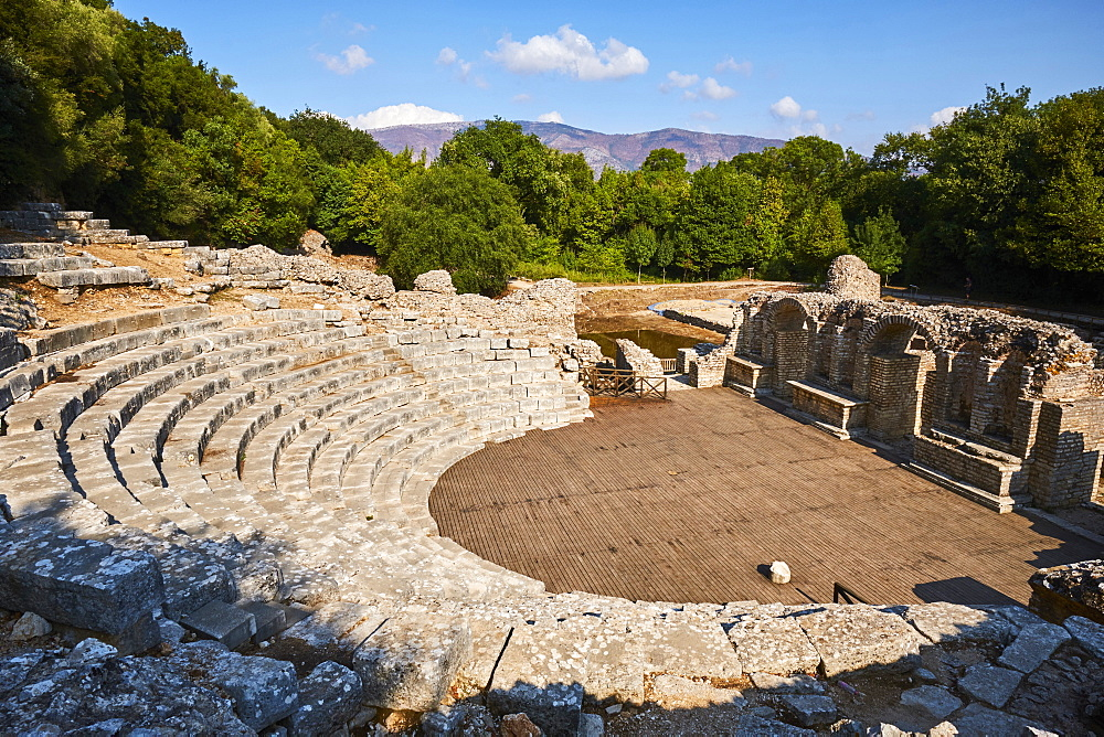 Albania, Vlore province, Butrint, Ruins of the greek city, UNESCO World Heritage Site
