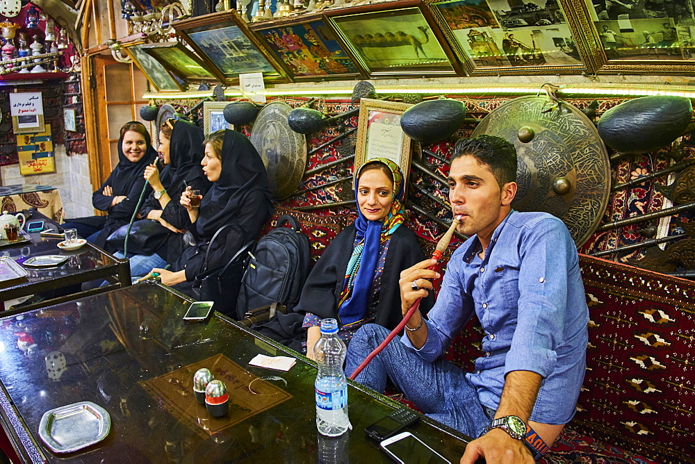 Azadegan teahouse, Isfahan, Iran, Middle East - 712-2838