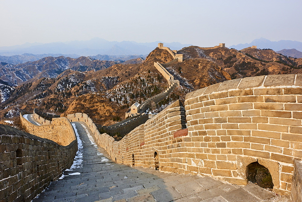 Steps and path on the Jinshanling and Simatai sections of the Great Wall of China, Unesco World Heritage Site, China, East Asia