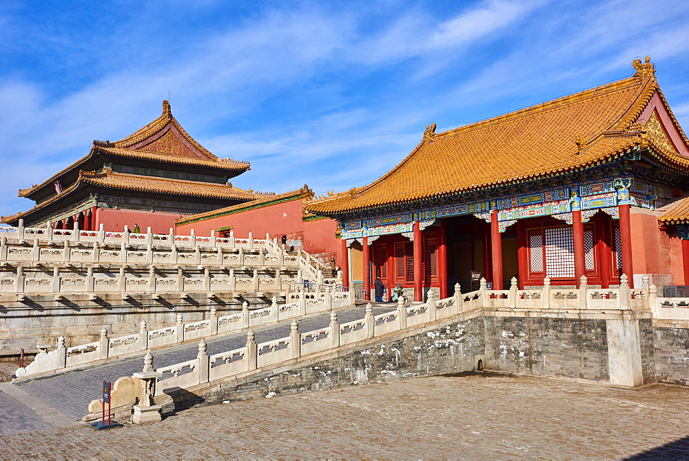 Zhendu gate and the Gate of Supreme Harmony, Forbidden City, Beijing, China, East Asia - 712-2913