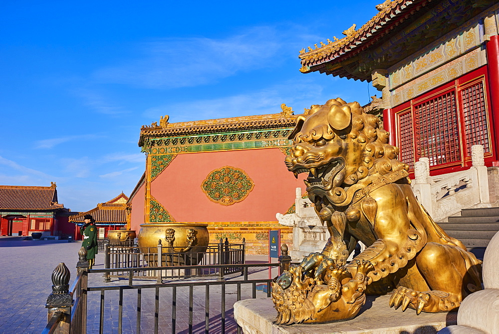 China, Beijing, Forbidden City, statue of Lion