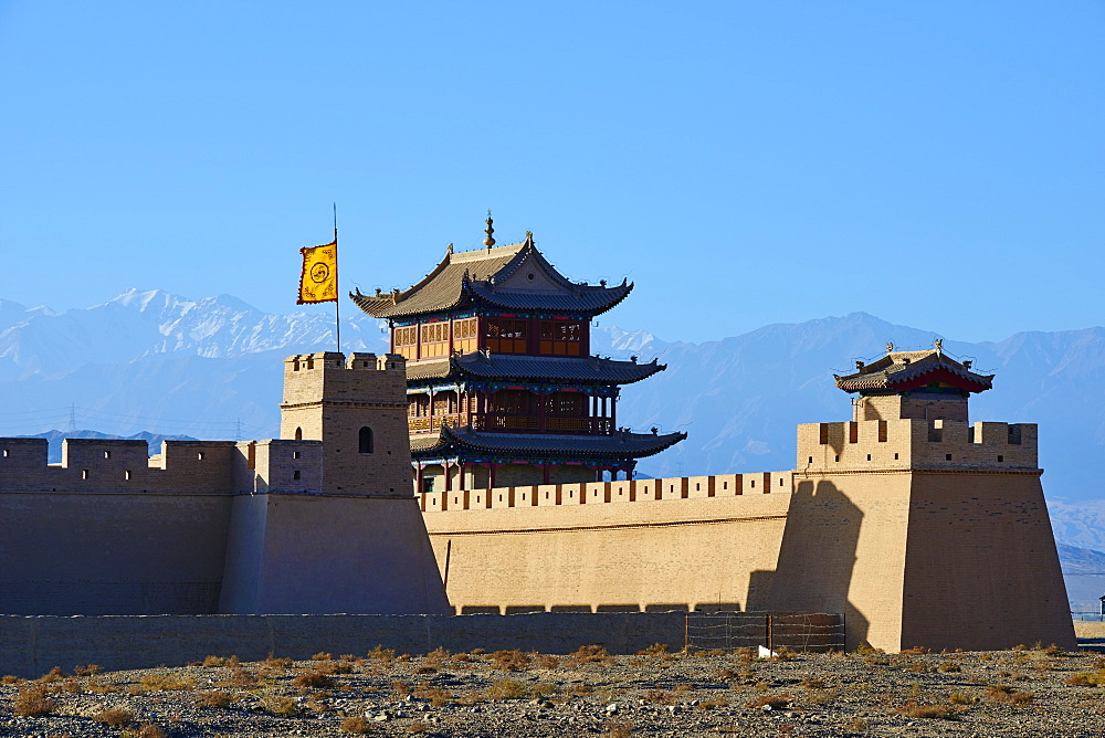 The fortress at the western end of the Great Wall, UNESCO World Heritage Site, Jiayuguan, Gansu Province, China, Asia - 712-2937