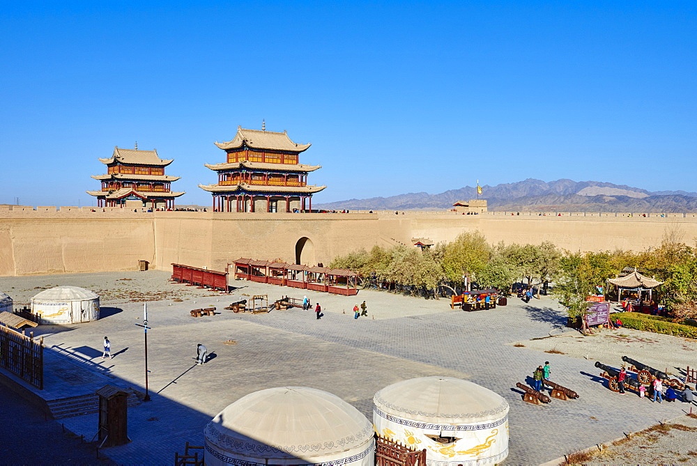 The fortress at the western end of the Great Wall, UNESCO World Heritage Site, Jiayuguan, Gansu Province, China, Asia - 712-2939