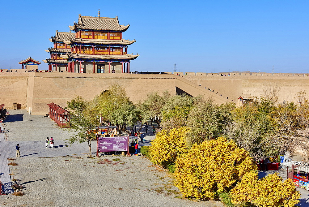 The fortress at the western end of the Great Wall, UNESCO World Heritage Site, Jiayuguan, Gansu Province, China, Asia - 712-2940