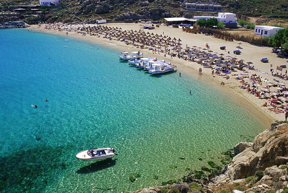 Super Paradise Beach, Mykonos, Cyclades, Greek Islands, Greece, Mediterranean, Europe