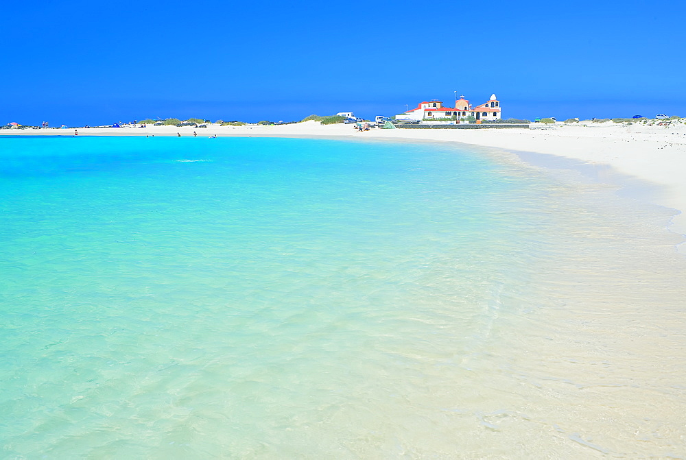 Sandy beach, El Cotillo, Fuerteventura, Canary Islands, Spain, Atlantic, Europe - 718-1714