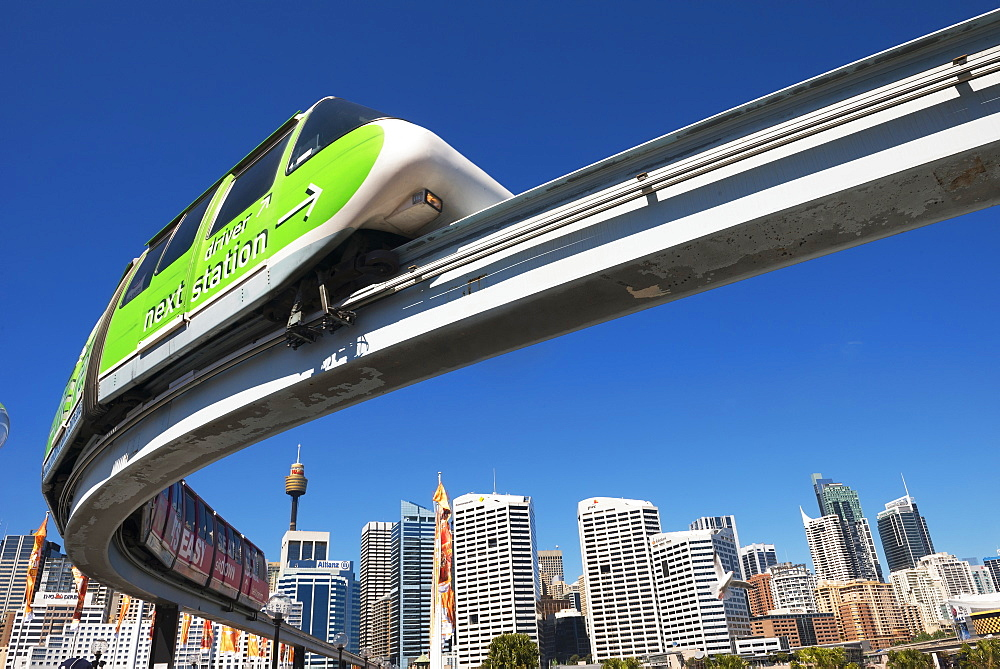 Monorail in Darling Harbour, Sydney, New South Wales, Australia, Pacific