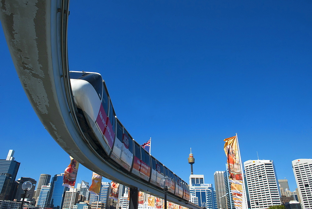 Monorail, Darling Harbour, Sydney, New South Wales, Australia, Pacific