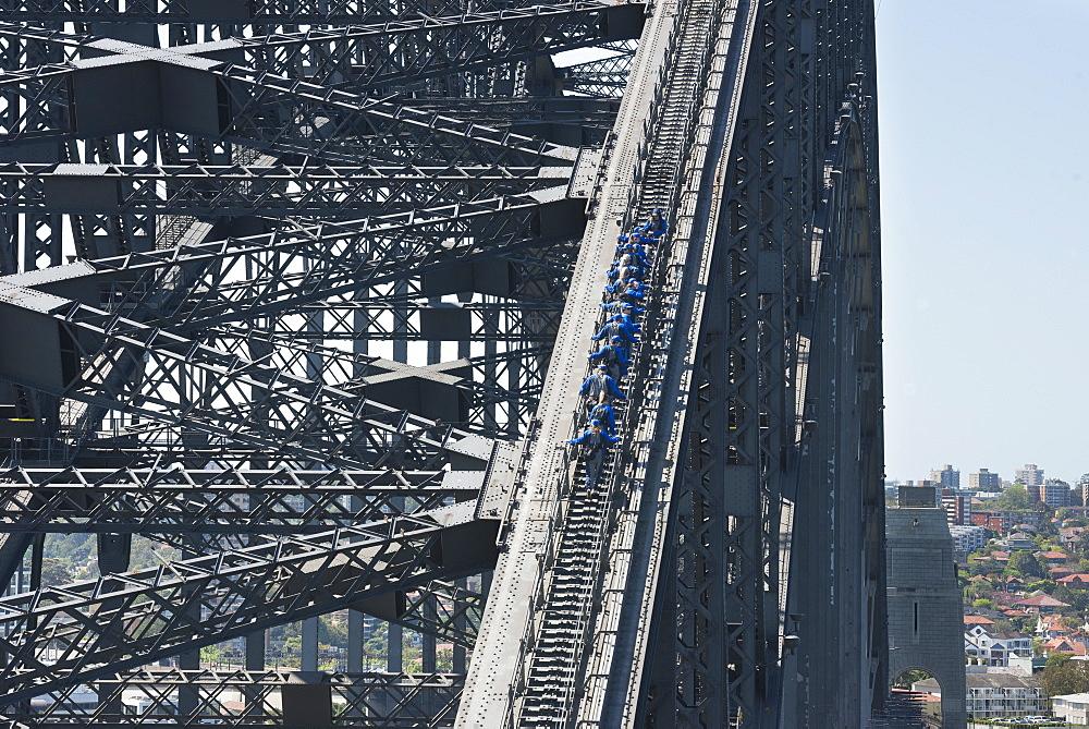 People walking on Sydney Harbour Bridge, Sydney, New South Wales, Australia, Pacific