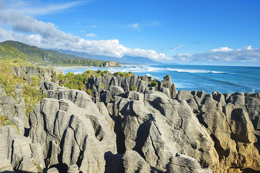 Pancake Rocks, Punakaiki, Paparoa National Park, West Coast, South Island, New Zealand, Pacific